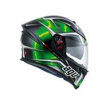 K-5 AGV E2205 MULTI PLK - HURRICANE BLACK-GREEN-WHITE