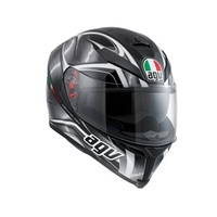 K-5 AGV E2205 MULTI PLK - HURRICANE BLACK-GUNM.-WHITE